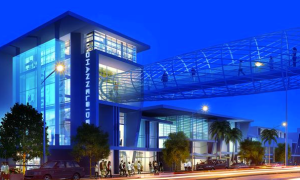 Proposed rendering: the complex would be opened up to Channelside drive and include overhead pedways. Courtesy of Tampa Bay Business Journal.